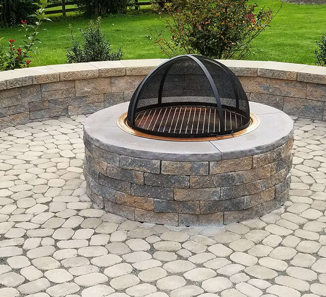 gas-burning-firepit-backyard